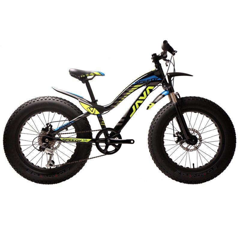Us 6660 20 7 Velocità Flash Bambini Grasso Bici Della Bicicletta Da Neve Neve Bike Bike Beach Bambini Mountain Bike Telaio In Lega Di Alluminio