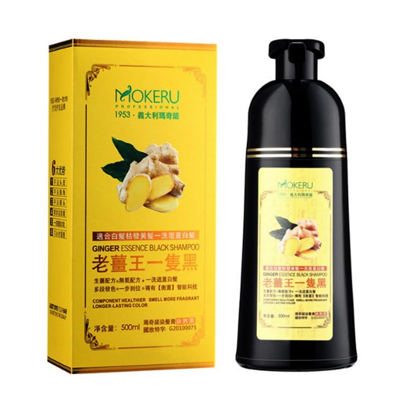 Mokeru 1pc Long Unisex Lasting Fast 5 Mins Ginger Black Hair Shampoo Organic Pure Natural Hair Dye Shampoo for Hair for WomenMokeru 1pc Long Unisex Lasting Fast 5 Mins Ginger Black Hair Shampoo Organic Pure Natural Hair Dye Shampoo for Hair for Women