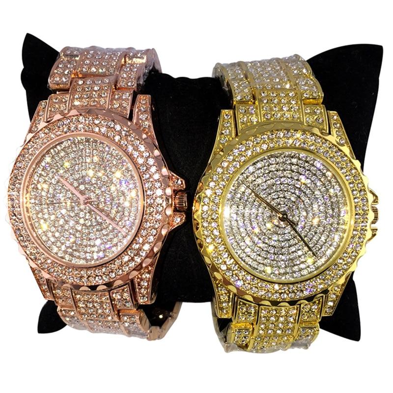 6259df1b13f HMMWV Luxury Diamond Watches For Women Ladies Silver Bracelet Watch Set  Rose Gold Quartz Rhinestone Clock relogio feminino 8803-in Women s Watches  from ...