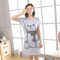 Free Shipping Women Nightgowns Summer Sleepwear Casual Night Dresses Short Sleeve Letter Print Loose Nightdress Home Clothes