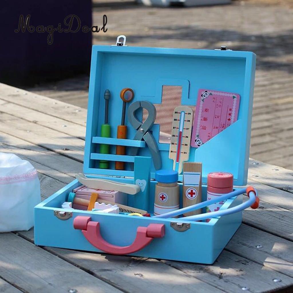 Estuche y equipos médicos escala 1.12 herramientas de médico muñeca casa miniatura
