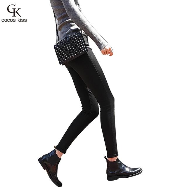 2016 Nuevo Estilo de Moda Cintura Elástica, Además de Terciopelo Pantalones Mágicos Grandes Pantalones Elásticos 9 Pantalones de Alta Calidad