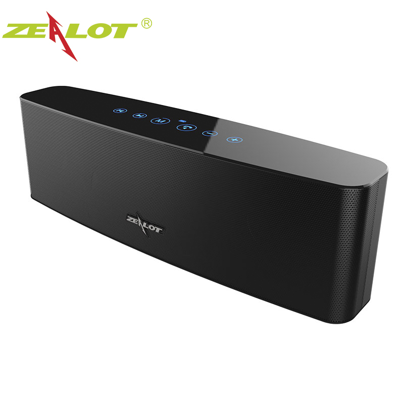 ZEALOT S12 Bluetooth Speaker 12W Touch Control Wireless 3D Surround Bass Stereo Subwoofer With Microphone Support TF Card AUX wireless bluetooth speaker led audio portable mini subwoofer