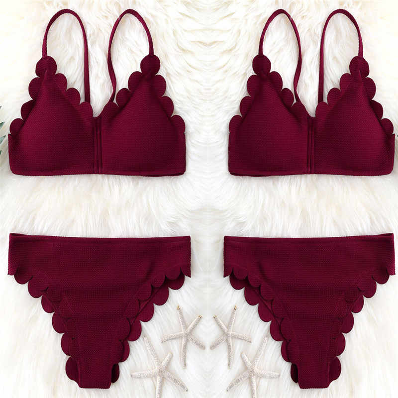 68e244ceef9 Sexy Bikinis Women 2017 Push-Up Swimsuit Padded Bikini Set Plus Size Swimwear  Female Bathing
