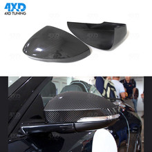 Real Carbon Car Mirror Cover Add On Style For Jaguar F-Type Side Rear View Mirror Cover Caps 2013 2014 2015 2016 2017 2018 carbon fiber side wing mirror covers for porsche panamera 970 2010 2014 2015 2016 add on style rear view mirror cover only lhd