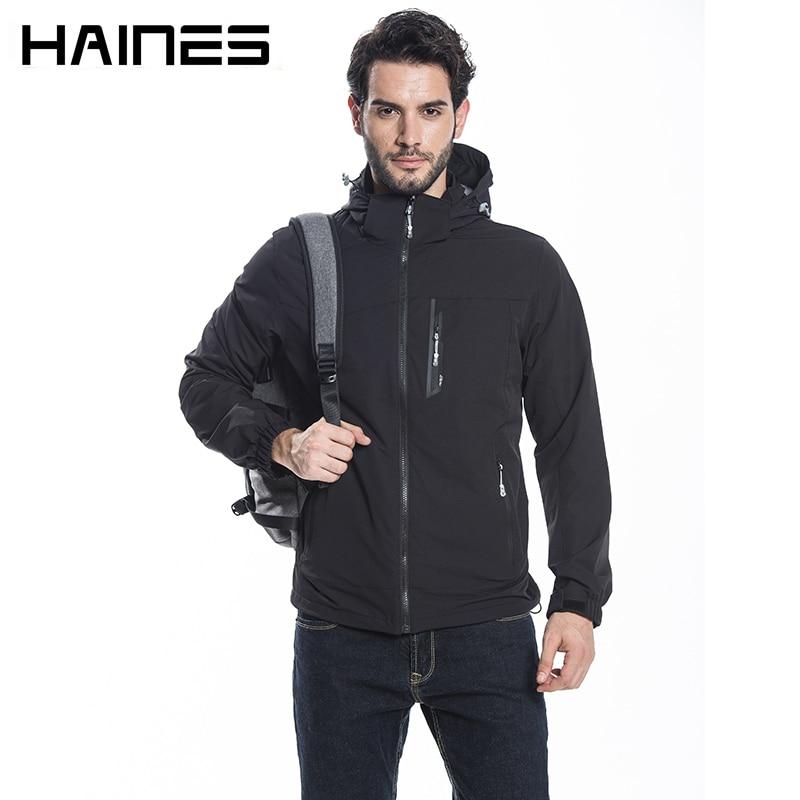 HAINES Man Jacket Summer Breathable Thin Military Jackets jaqueta masculina Hooded Waterproof Windproof Bomber Jacket