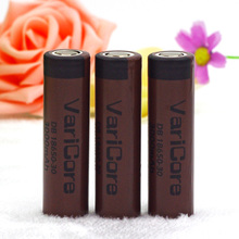 3pcs.VariCore DB 18650-30 original 3000mAh 3.6V lithium 18650 20A continuous discharge dedicated to electronic cigarette battery
