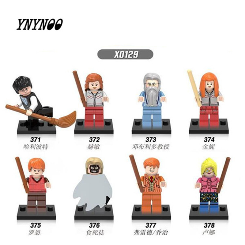 YNYNOO 8pcs Xinh 0129 Harry Potter Friends Hermione Jean Granger Ron Weasley Lord Voldemort Building Blocks Toys X0129 marine pharmaceutical compounds