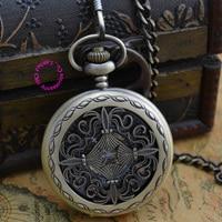 wholesale buyer price good quality gentleman man fashion retro classic bronze knot mechanical pocket watch necklace