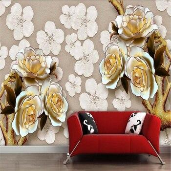 beibehang Wallpaper Mural Wall Sticker Relief Flower TV Wallpaper Wallpaper Mural papel de parede wallpaper for walls 3 d wallpaper wallpaper city guide paris 2012
