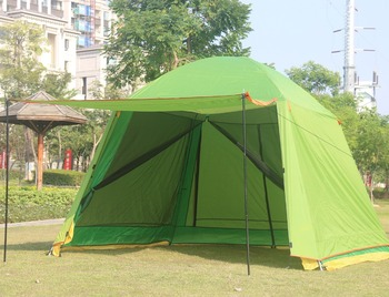 Alltel 5-6 person use double layer ultralarge waterproof camping family party big tent large gazebo with bottom mat