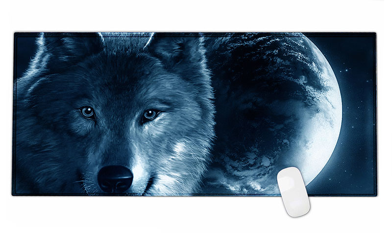Wolf Rubber Gaming Mouse Pad Mat For Pc Laptop Computer