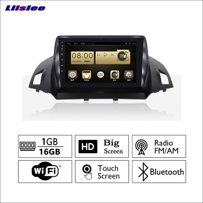 Liislee For Ford KUGA 2014~2017 Car Radio GPS Audio Video Multimedia Player WiIFi DVR Navigation Android System No CD DVD
