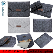 цена на 11 12 13 14 15.4 Inch Fashion Wool Felt Sleeve Laptop Bag Pouch Case for Macbook Notebook Cover for Macbook Air Bag Men Women