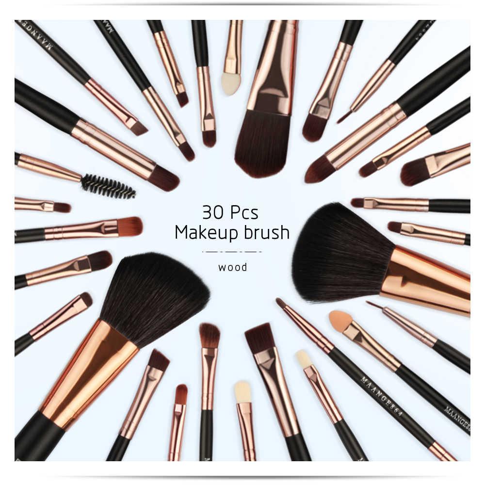c1cc64487c70 MAANGE 20-30pcs Pro Makeup Brushes Set Eye shadow Eyeliner Powder  Foundation Blush Lip Beauty Make up Brush Tools & Cosmetic Bag