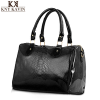 KNY KAVIN KK Brand Women Handbag 3 Sets Solid Artificial Leather Tote Bag Large Shoulder Bags
