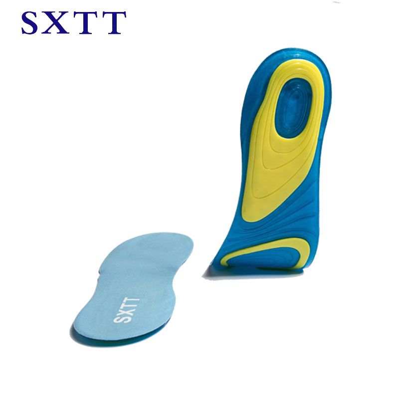 SXTT Silicone gel insoles comfortable shoe insoles shock sole men insoles shoes pad inserts insert women massage insoles цена 2017