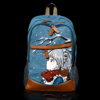 Fresh art hand painted pattern backpack canvas bag graffiti backpack college wind students Korean version diy