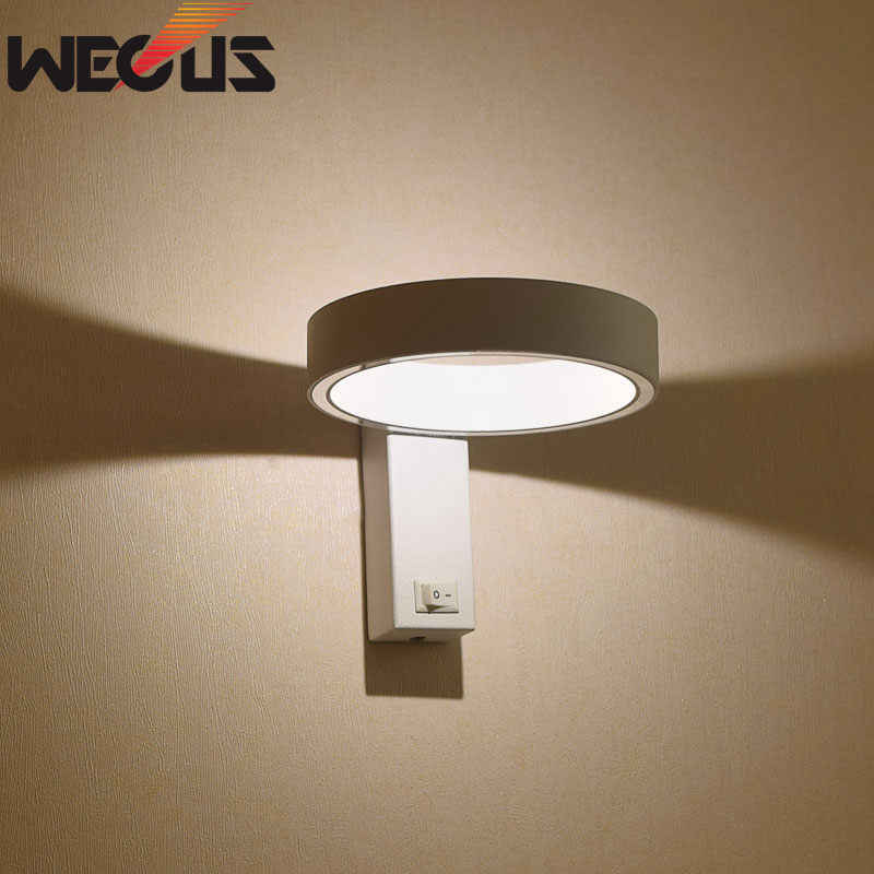 Modern LED Wall Lamps Rotating Flexibility Bedroom Wall Lights Aluminum Body Indoor Bedside Lighting