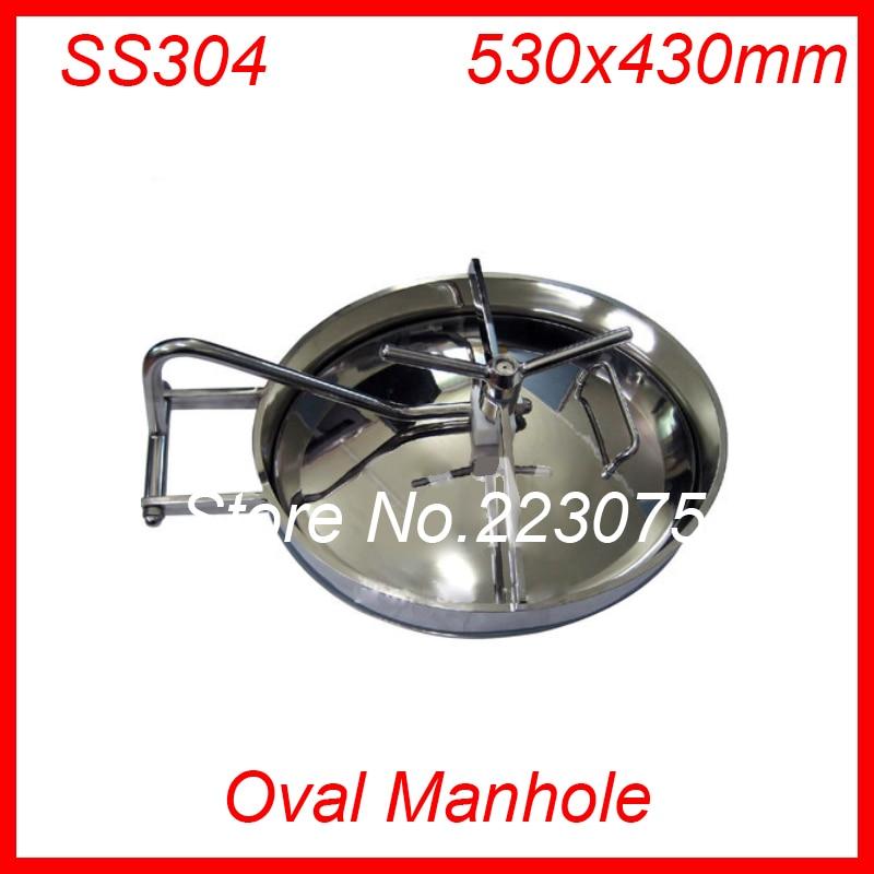 Trou dhomme ovale en acier inoxydable 530x330mm SS304Trou dhomme ovale en acier inoxydable 530x330mm SS304