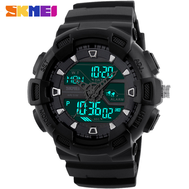 SKMEI Brand New Fashion Watch Men Dual Time Digital Sports Wristwatch LED Analog Quartz Military Watches Relogio Masculino Reloj