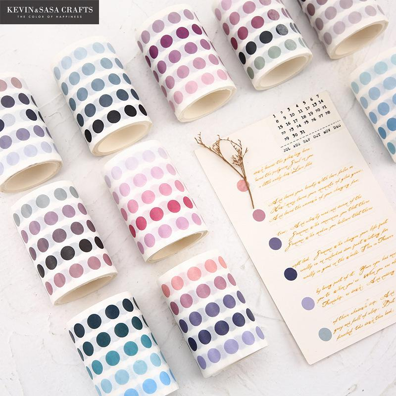 336 Pcs/lot Colorful Dots Washi Tape Japanese Paper Diy Planner Masking Tape Adhesive Tapes Stickers Decorative Stationery Tapes