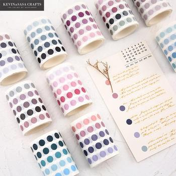 336 Pcs/lot Colorful Dots Washi Tape Japanese Paper Diy Planner Masking Adhesive Tapes Stickers Decorative Stationery
