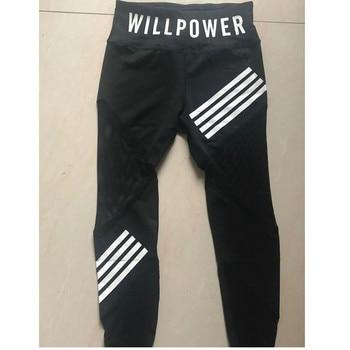 Black High Waist Leggings Women Mesh Patchwork Push Up Legging Letter Pring Fitness Pants Breathable