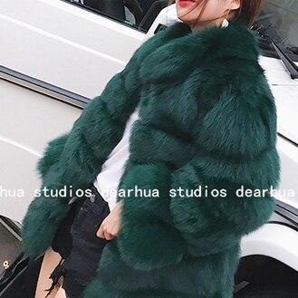 3f99226275655 Dropwow ZADORIN 2018 New Winter Coat Women Faux Fox Fur Coat Plus ...
