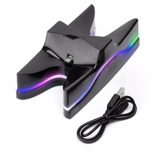 Rainbow UFO Dual USB Charger Charging Dock Stand Station for Sony PS4 Playstation 4 games Controller console Gaming joystick