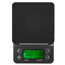 Portable Electronic Scale with Timer 3kg/0.1g LCD Digital Kitchen Coffee Scales Weighing tool libra Precision Jewelry Scale USB(China)