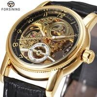 WINNER Best Sale Men Classic Business Automatic Mechanical Wrist Watch Stainless Steel Band Rotation Case Calendar