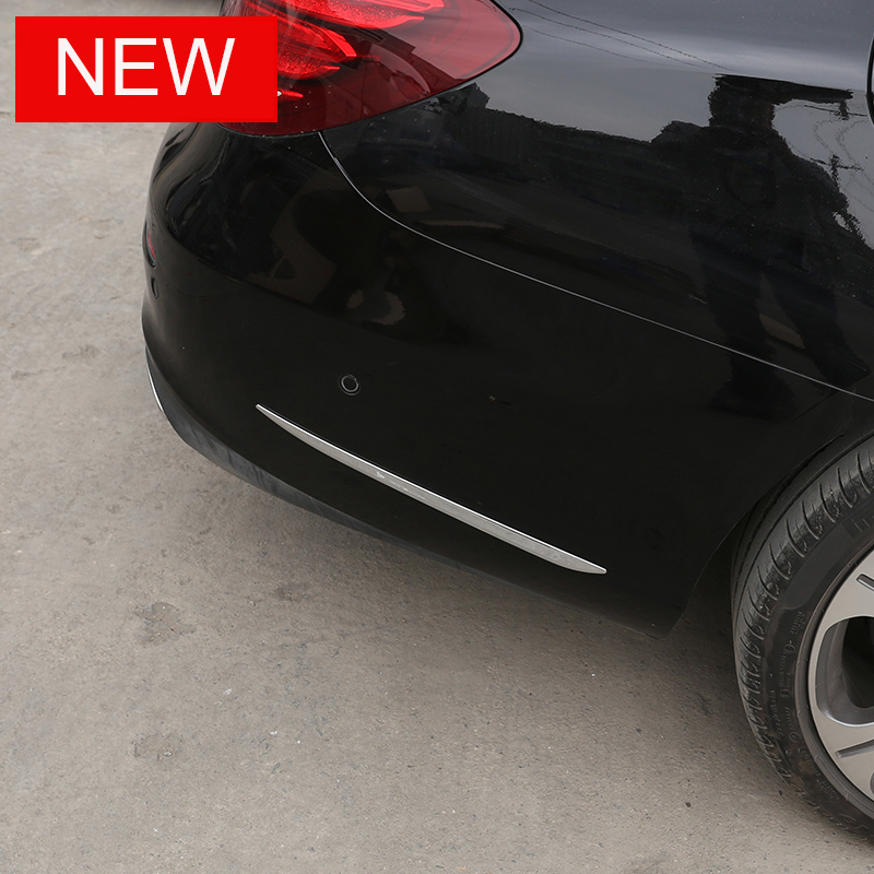 For Mercedes Benz E Class W213 E200l 300l 2016 2017 ABS Side Molding Decorative Strips Trim Sticker Car Accessories AMG 2pcs