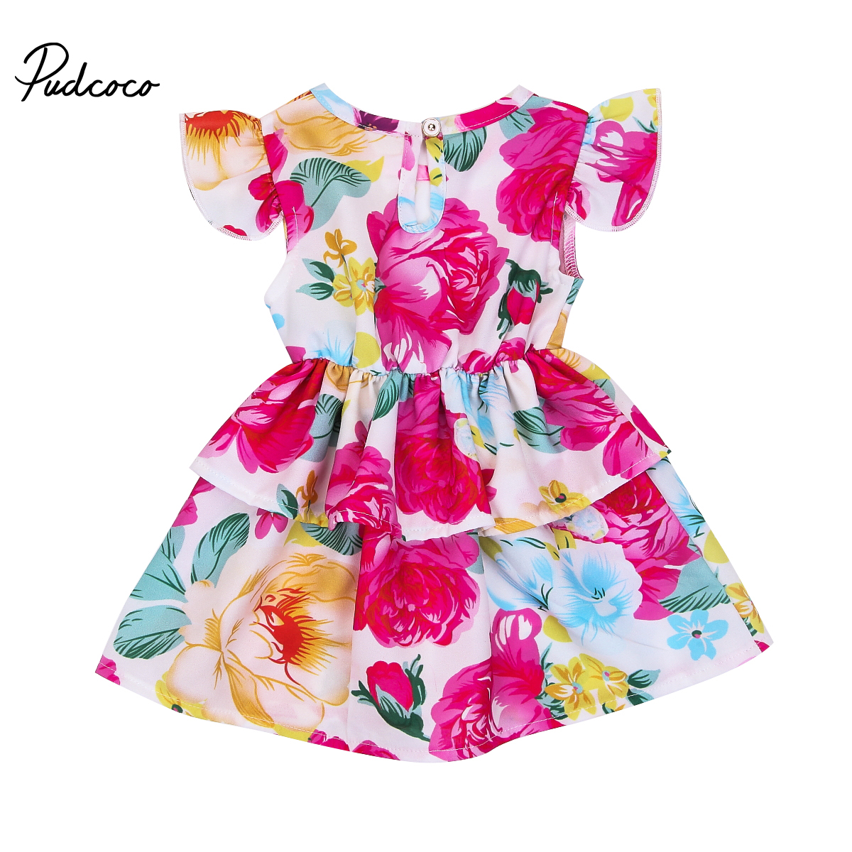 Cute Newborn Infant Baby Girl Floral Tutu Dress Party Pegeant Princess Dresses Summer Baby Girls Clothes