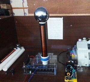 Image 3 - Funken lücke tesla draht falle stück diy technologie zu produzieren drahtlose übertragung licht arc arc spray arc