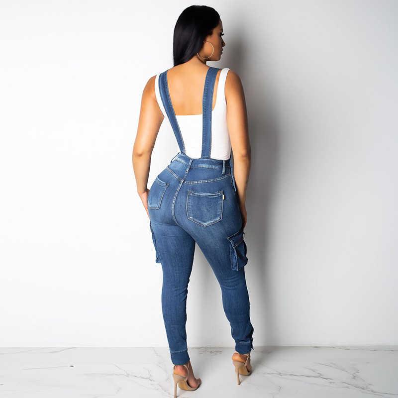 Комбинезон на подтяжках, комбидресс-спагетти, джинсы, джинсовые штаны, комбинезон, большие размеры, рабочая одежда для женщин, Boyfriend, с открытыми плечами, лето