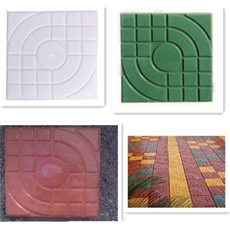New diy square garden path concrete plastic brick mold for Diy brick floor