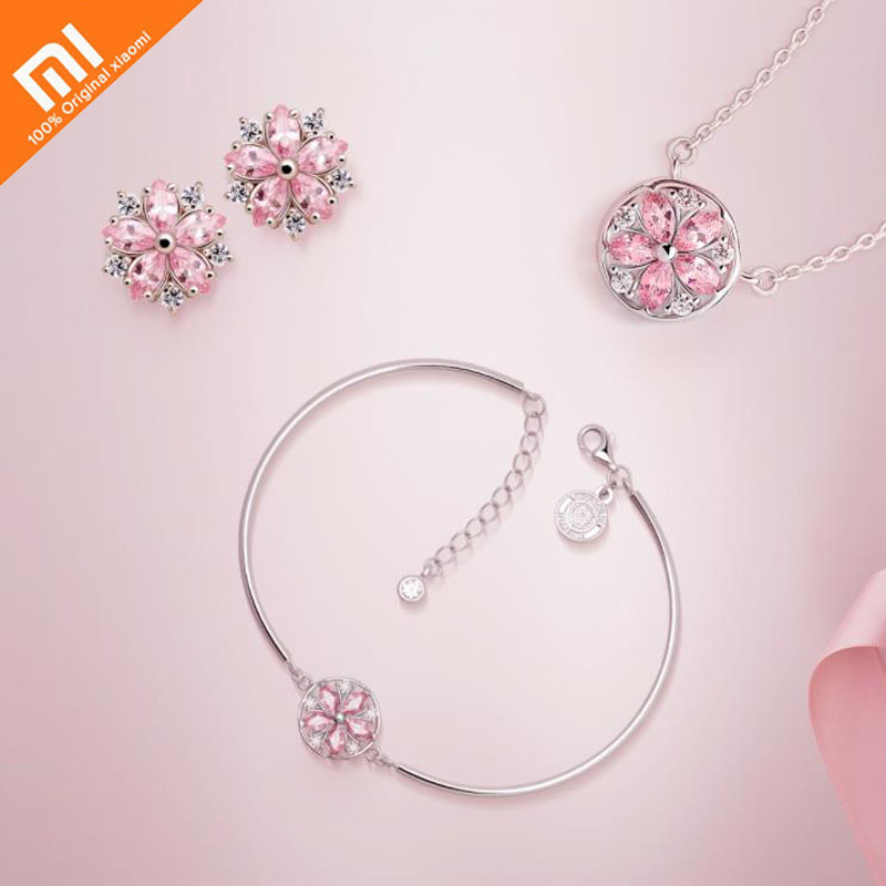 Original xiaomi mijia pirate ship confession cherry series ladies earrings necklace bracelets the same style for