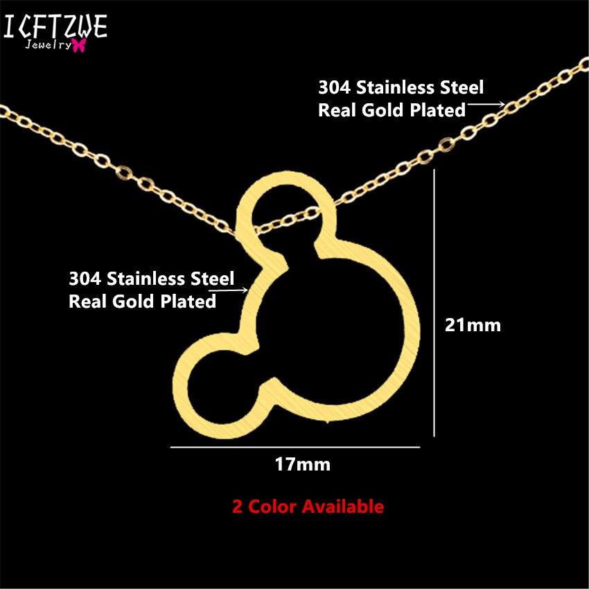 Ketting Vrouwen Maus Halskette Frauen Gold Farbkette Bijoux Femme - Modeschmuck - Foto 5