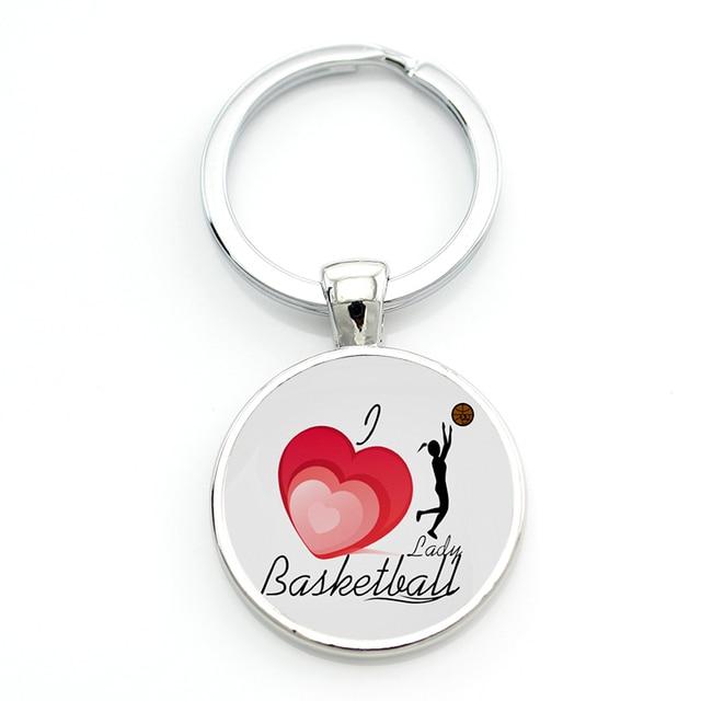 JWEIJIAO Keep Calm and Love Basketball key chain ring holder women men  basketball sports jewelry keychain keyring Custom SP465 6cec312cf9
