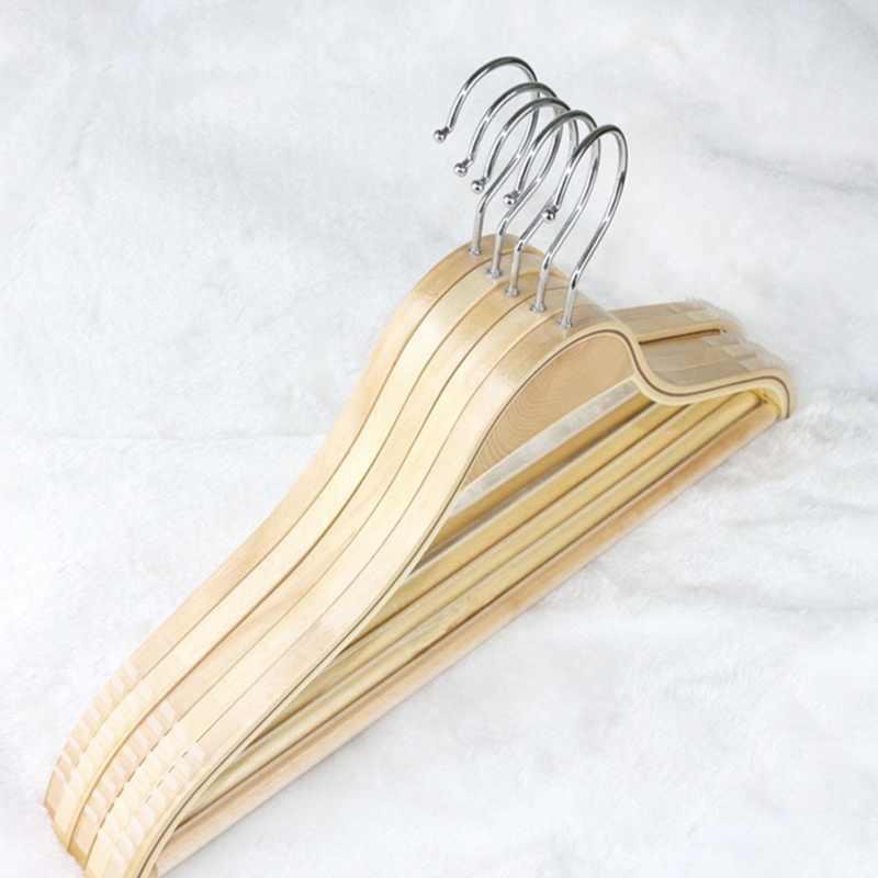 32 cm/38 cm/42 cm niños adultos antideslizante percha de Color de troncos percha de madera brillante suministros para el hogar