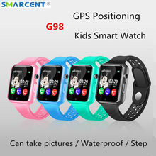 G98 GPS Bluetooth Kids Smart Watch with Camera Pedometer Waterproof Wristwatch SOS Anti-lost Touch Screen Smart Watch