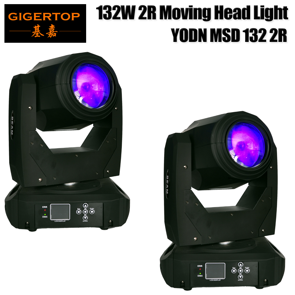 Fedex/TNT 2 Pack Moving Head Sharpy Beam 130w 2R YODN Stage light DMX512 Signal Control 3 pin Interfaces 16CH/20CH for Show 2r sharpy beam 2r compact moving head stage lights 132w 2r brand lamp mini sharpy moving head light 90v 240v free shipping