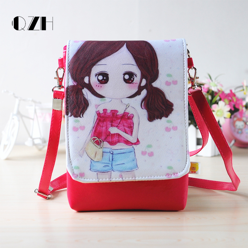 QZH little girl messenger bags PU Mini Cartoon Kids Girls Cute Shoulder Bag Crossbody for kindergarten children purse pouch gift waterproof cartoon cute thermal lunch bags wome lnsulated cooler carry storage picnic bag pouch for student kids