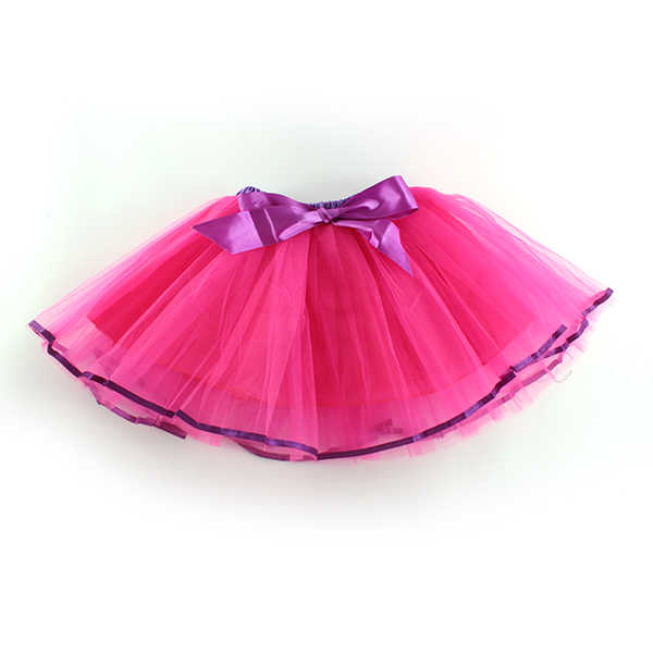 Юбка для девочек, новая детская юбка-пачка для девочек, мини-юбка для новорожденных, балетная одежда принцессы из тюля с бантом, бальное платье выше колена