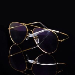 Image 1 - Cubojue Aviation Glasses Frame Men Women Titanium Eyeglasses Men Spectacles Ultra Light Fashion or Prescription Vintage Eyewear