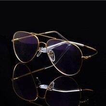 Cubojue Gafas de aviación para hombre y mujer, anteojos unisex de titanio, ultraligeros, a la moda o con prescripción Vintage