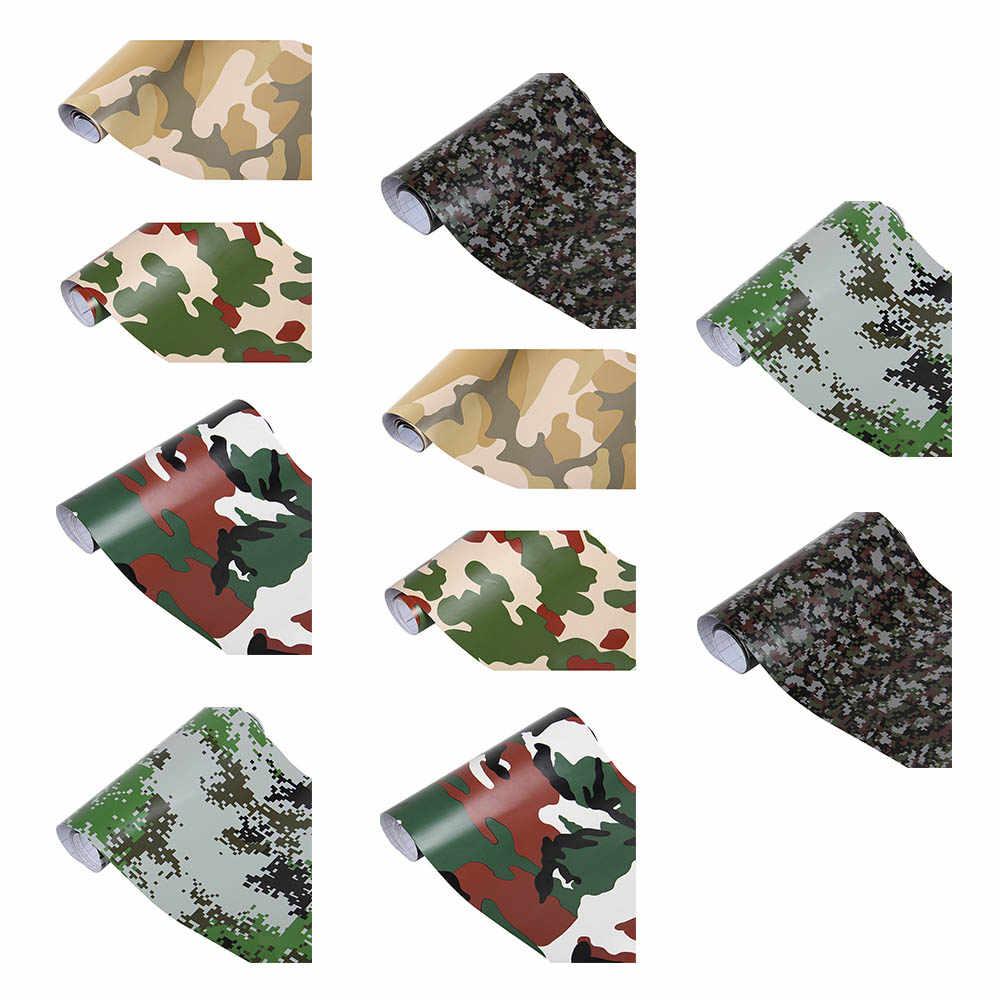 152*30 cm 3D naklejki samochodowe Body Style Movie Camo wojskowy kamuflaż zielony samochód naklejki i etykiety naklejki pcv winylu samochodu