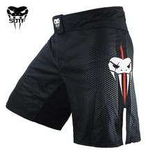 SOTF mma Adults Venomous snake Men Women geometric boxing shorts Tiger Muay Thai mma shorts boxing clothing fight shorts sanda все цены