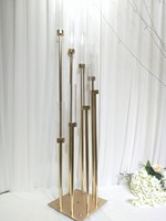 8 Heads Metal Candelabra Candle Holders Acrylic Wedding Table Centerpiece Flower Stand Candle Holder
